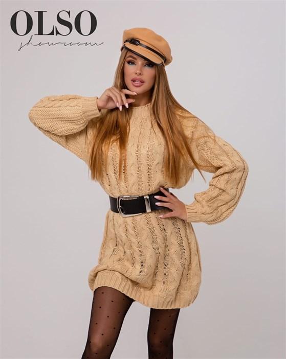 Платье вязаное - фото 35319